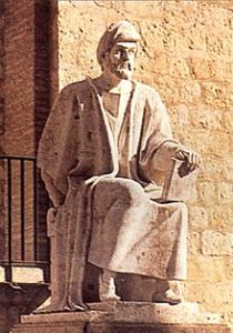 Averroes, 1126-1198, moslem scholar and philosopher credited as one of the leading lights of the Renaissance.
